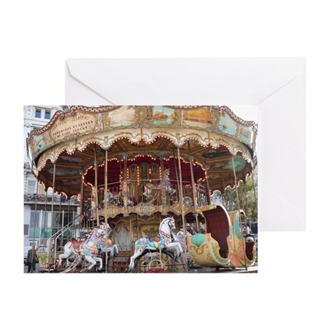 Blank French Carousel Greeting Cards (Pk of 10)