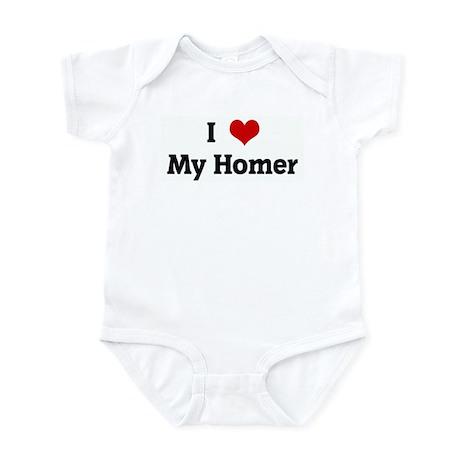 I Love My Homer Infant Bodysuit