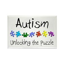 Autism (Unlocking The Puzzle) Rectangle Magnet