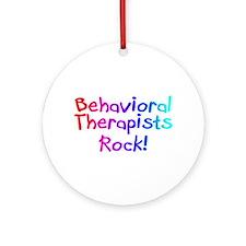 Behavioral Therapists Rock! Ornament (Round)