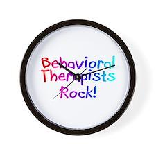 Behavioral Therapists Rock! Wall Clock