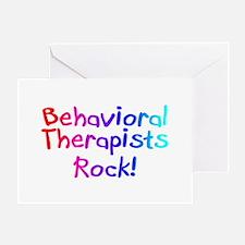 Behavioral Therapists Rock! Greeting Card