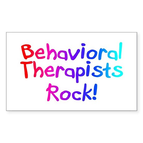 Behavioral Therapists Rock! Rectangle Sticker