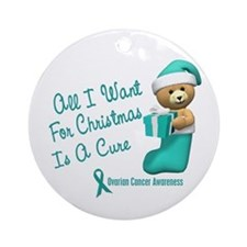 Bear In Stocking 1 (Cervical Cancer) Ornament (Rou