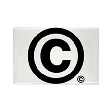 I've Copyrighted the copyrigh Rectangle Magnet