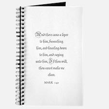MARK 1:40 Journal