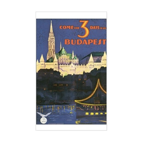 Budapest Hungary Rectangle Sticker