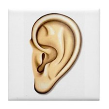 Ear Doctor Audiologists Audio Tile Coaster