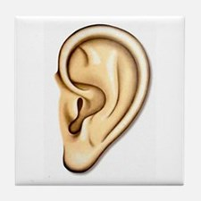 Ear Doctor Audiologists Audio Tile Coaster