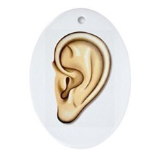 Ear Doctor Audiologists Audio Oval Ornament