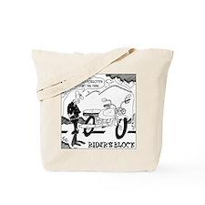 Rider's Block Tote Bag