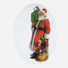 Old St. Nick Ornament (Oval)