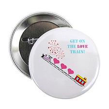 """~Love Train Design 002~ 2.25"""" Button"""
