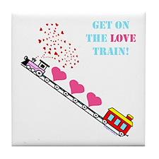 ~Love Train Design 002~ Tile Coaster