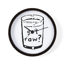 got raw? Wall Clock