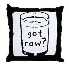 got raw? Throw Pillow