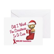 Bear In Stocking 1 (AIDS HIV) Greeting Card