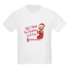 Bear In Stocking 1 (AIDS HIV) T-Shirt