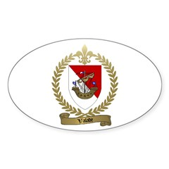 VALADE Family Crest Oval Decal
