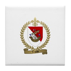 VALADE Family Crest Tile Coaster