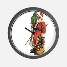 Old St. Nick Wall Clock