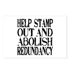 Stamp Out Redundancy Postcards (Package of 8)