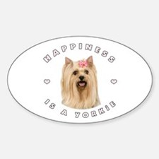 Happiness is a Yorkie! Oval Decal