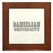 Danielian University Last Name Framed Tile