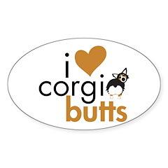I Heart Corgi Butts - BHT Fluffy Decal