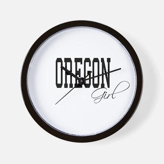 Oregon Girl Wall Clock