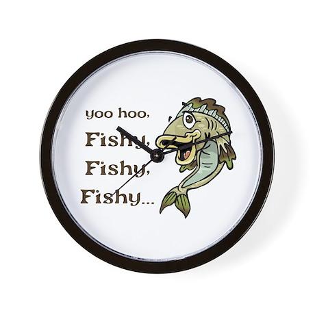 Here Fishy Fishy Fishy Wall Clock