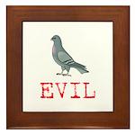 Evil Pigeon Framed Tile
