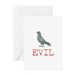 Evil Pigeon Greeting Card