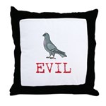 Evil Pigeon Throw Pillow