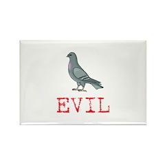 Evil Pigeon Rectangle Magnet (10 pack)