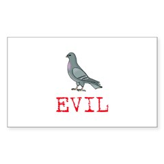 Evil Pigeon Rectangle Decal