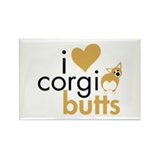 I Heart Corgi Butts - Fawn Rectangle Magnet