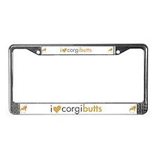 I Heart Corgi Butts - Fawn License Plate Frame