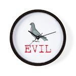 Evil Pigeon Wall Clock