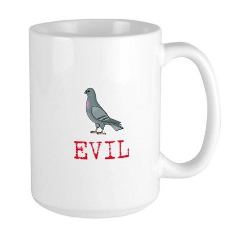 Evil Pigeon Large Mug