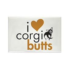 I Heart Corgi Butts - BWCardi Rectangle Magnet
