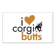 I Heart Corgi Butts - BWCardi Rectangle Decal