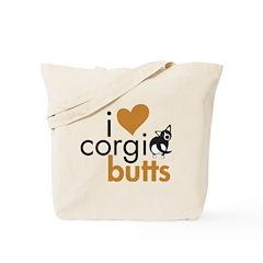I Heart Corgi Butts - BWCardi Tote Bag