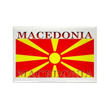 Macedonia Macedonian Flag Rectangle Magnet