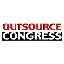 Outsource Congress Bumper Car Sticker