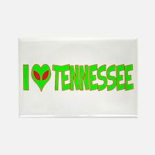 I Love-Alien Tennessee Rectangle Magnet