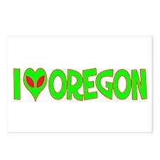 I Love-Alien Oregon Postcards (Package of 8)
