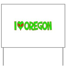 I Love-Alien Oregon Yard Sign