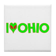 I Love-Alien Ohio Tile Coaster