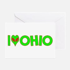 I Love-Alien Ohio Greeting Card